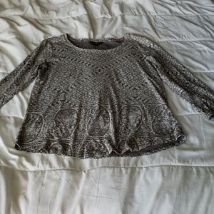 Lucky Brand cotton knit 3/4 sleeve top